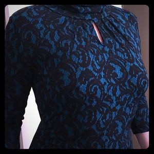 New York & Co lace print top